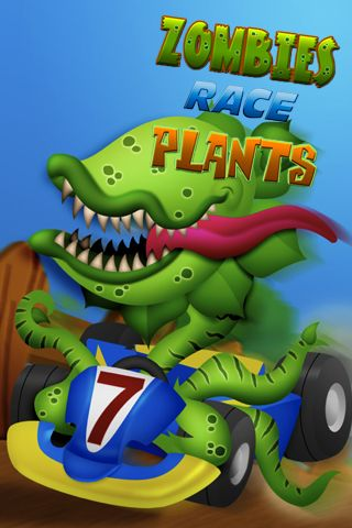 logo Carrera de zombi y plantas