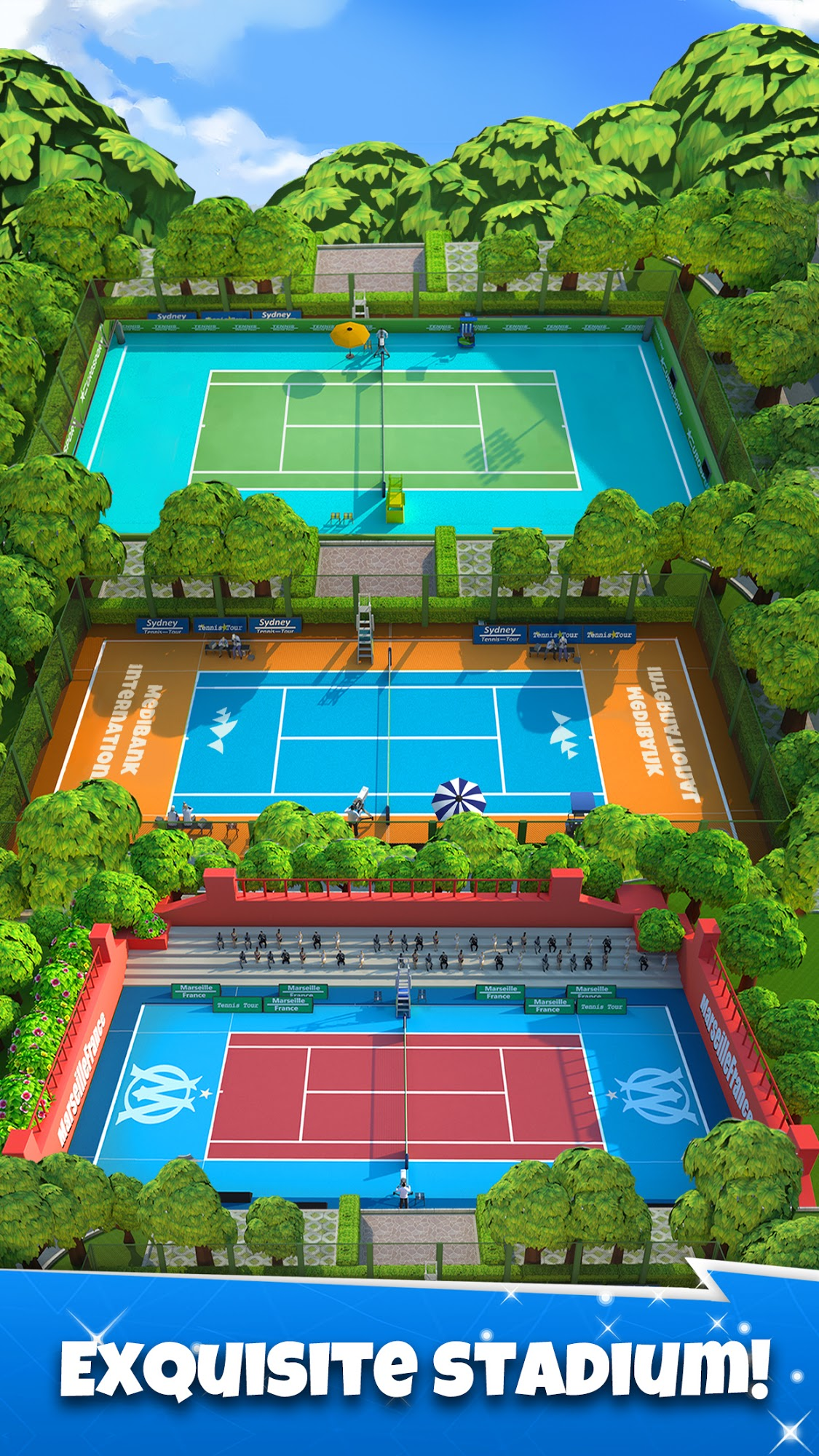 Tennis GO : World Tour 3D captura de pantalla 1