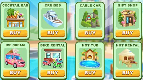 Arcade-Spiele Holyday city tycoon: Idle resource management für das Smartphone