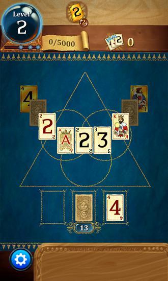 Logikspiele Clash of cards: Solitaire für das Smartphone