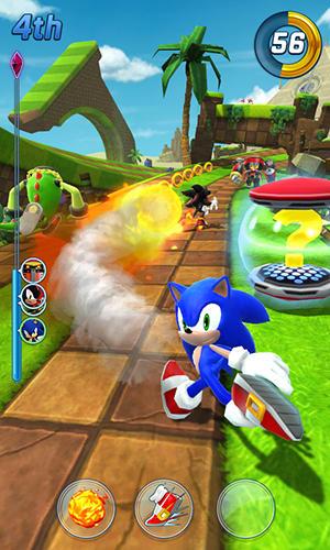 Arcade-Spiele Sonic forces: Speed battle für das Smartphone