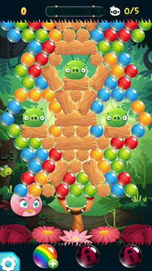 Jogos de bolhas Angry birds: Stella pop em portugues