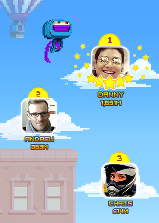 Screenshot Ninja Up! auf dem iPhone