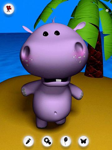 Bebê de hipopótamo falando em português