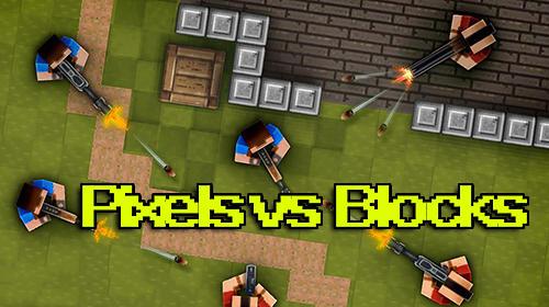 Pixels vs blocks: Online PvP Symbol