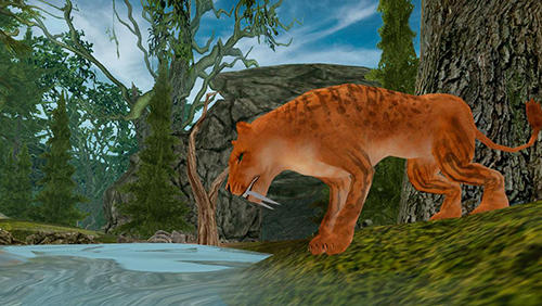 Simulation Life of sabertooth tiger 3D für das Smartphone