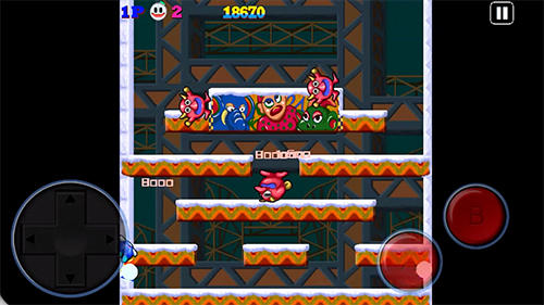 Platformer Snow bros. Nick and Tom for smartphone