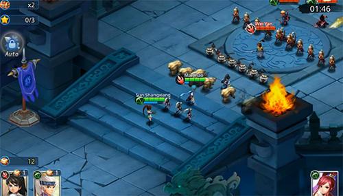 Online-Strategiespiele Warlords battle: Heroes auf Deutsch