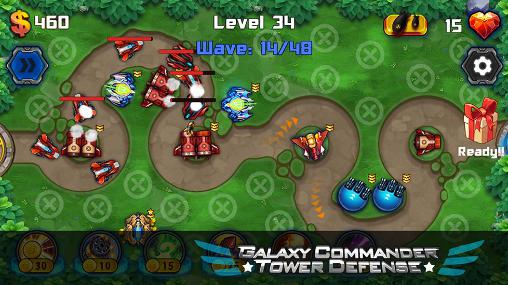 Strategie Galaxy commander: Tower defense für das Smartphone