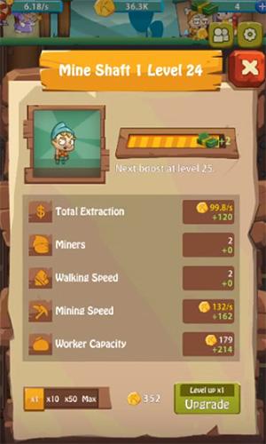 Arcade-Spiele Seven idle dwarfs: Miner tycoon für das Smartphone