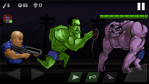 Police vs zombies für Android