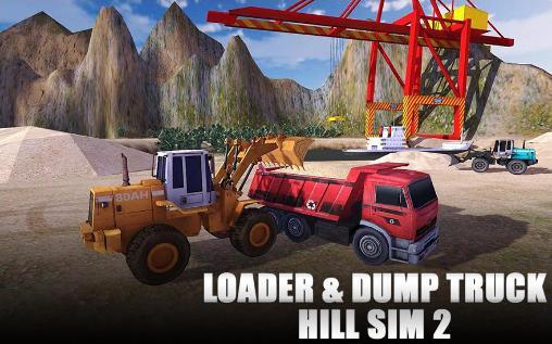 Loader and dump truck hill sim 2 captura de tela 1