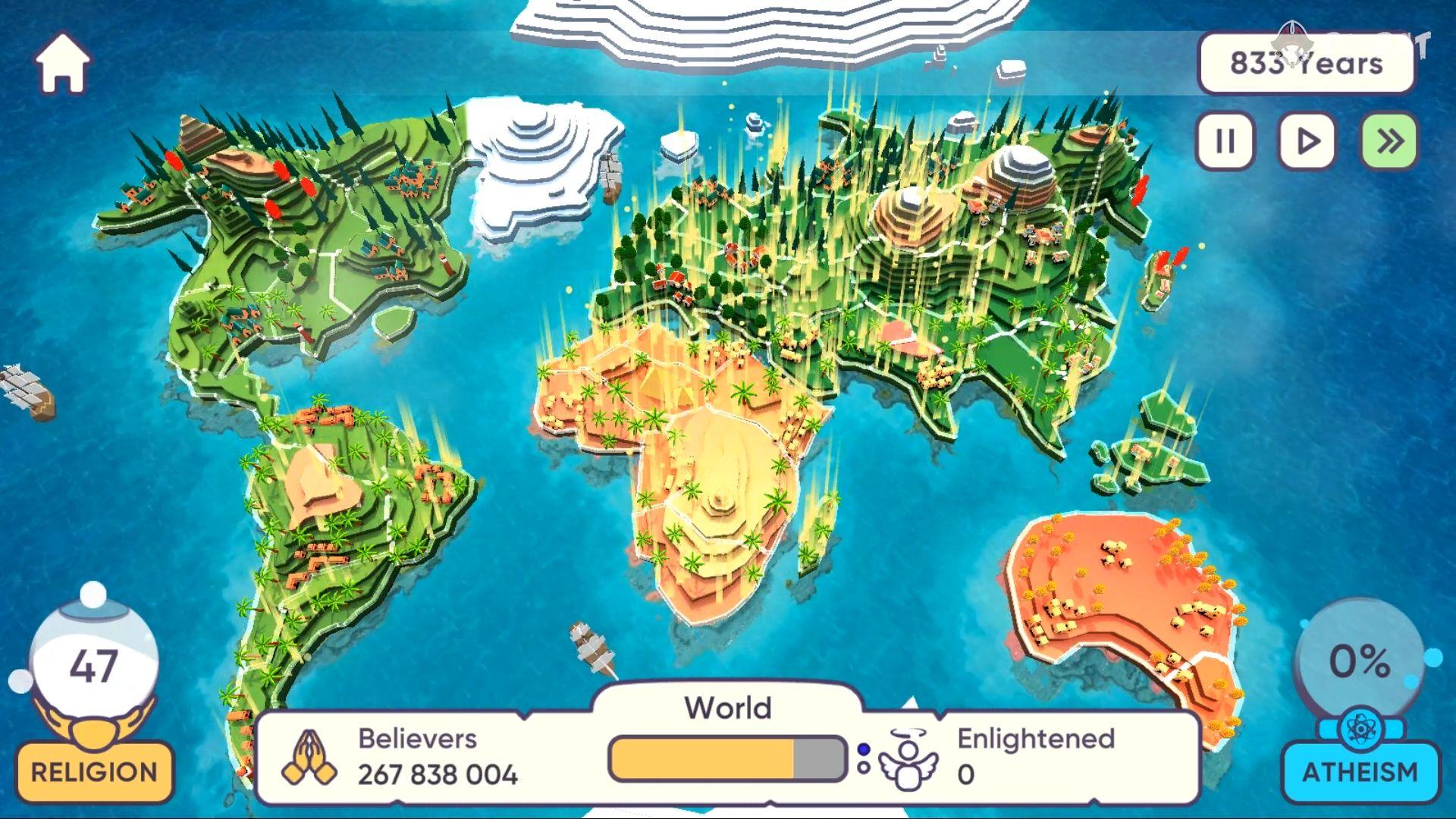 Religion inc. God Simulator & Sandbox World Create captura de tela 1