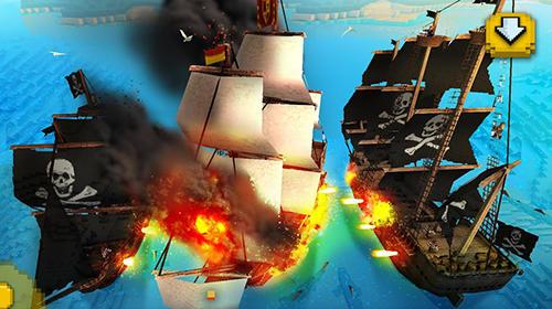 Pixelspiele Pirate ship craft: Exploration and sea battles auf Deutsch