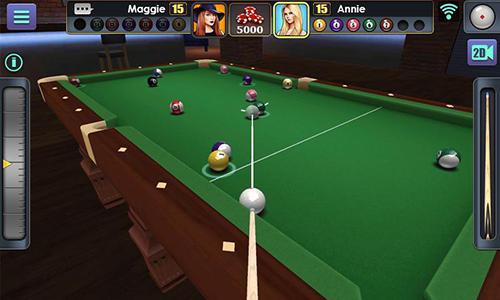 Online 3D pool ball für das Smartphone