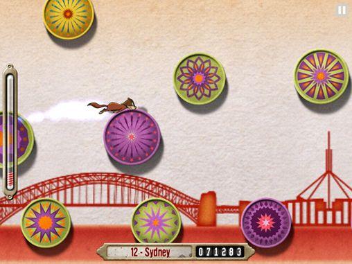 Скриншот Безумный скакун по колесам на Айфон