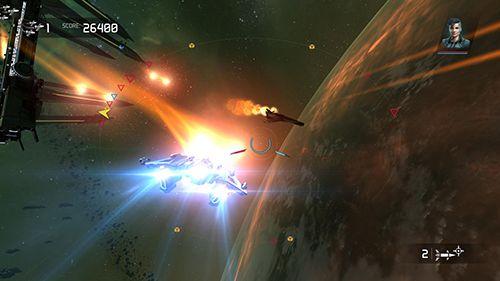 Screenshot Brennende Galaxie 3: Mantikor auf dem iPhone