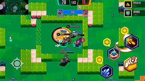 Shooters Heroes' strike: The first 4vs4 moba realtime auf Deutsch
