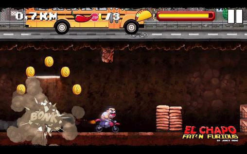 Arcade games El Chapo: Fat'n furious! for smartphone