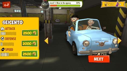 Racing games Mortadelo and Filemon: Frenzy drive for smartphone