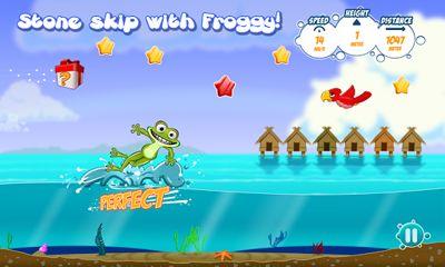 Juegos de arcade Froggy Splash para teléfono inteligente
