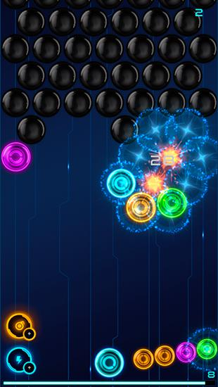 Arcade-Spiele Magnetic balls 2: Glowing neon bubbles für das Smartphone