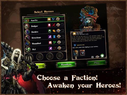 Onlinespiele Legends of Callasia für das Smartphone