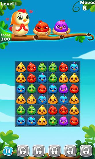 Arcade-Spiele Chicken splash 2 für das Smartphone