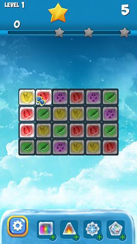 Arcade-Spiele Polar fox: Frozen match 3 für das Smartphone
