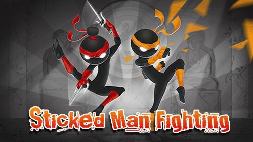 Sticked man fighting Symbol