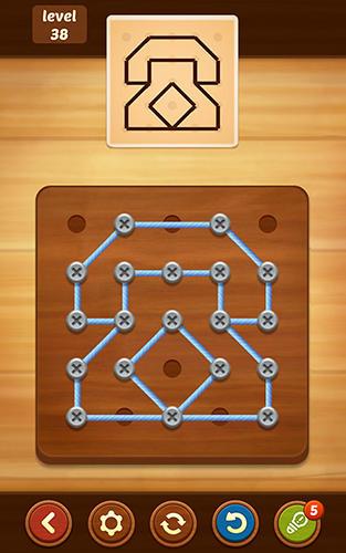 Line puzzle: String art auf Deutsch