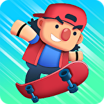 Tap skaters: Downhill skateboard racing Symbol