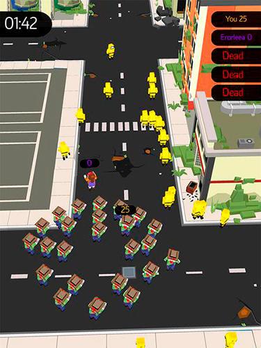 Zombiespiele Zombie crowd in city after apocalypse auf Deutsch