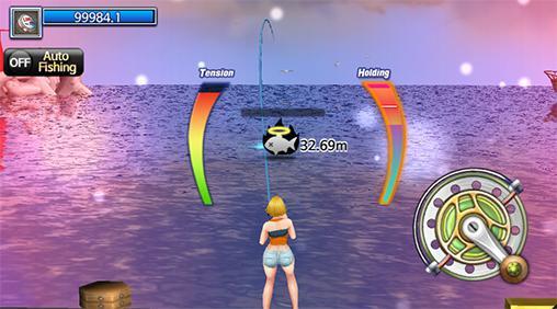 Angel-Spiele Fishing hero. 1, 2, 3 fishing: World tour auf Deutsch