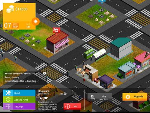 Strategiespiele Commanager HD: City für das Smartphone