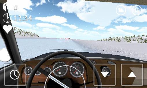 Russian snow traffic racer auf Deutsch