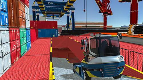 Simulator-Spiele Cargo crew: Port truck driver für das Smartphone