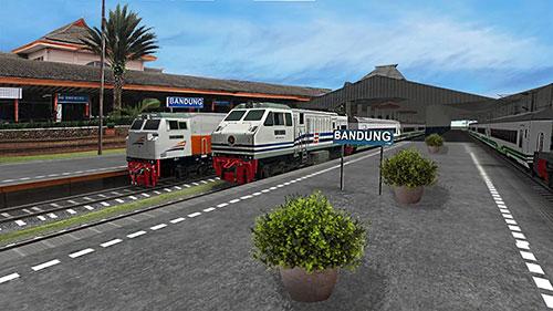 Simulation Indonesian train simulator für das Smartphone
