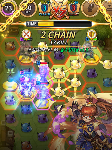 Triple chain: Strategy and puzzle RPG Screenshot