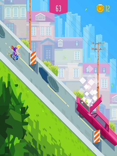 Arcade-Spiele: Lade Downhill Riders auf dein Handy herunter