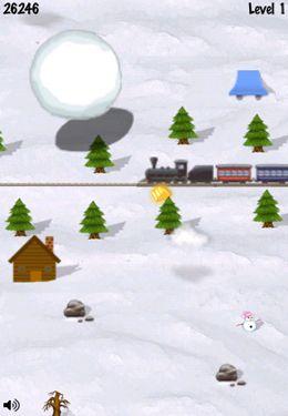 Schneeball-Rennen auf Deutsch