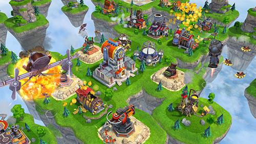 Onlinespiele Sky clash: Lords of clans 3D für das Smartphone