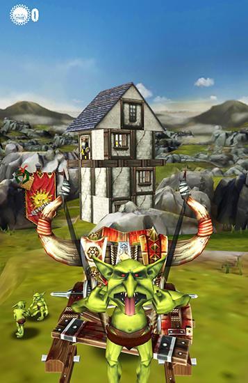 Arcade-Spiele Warhammer: Snotling fling für das Smartphone