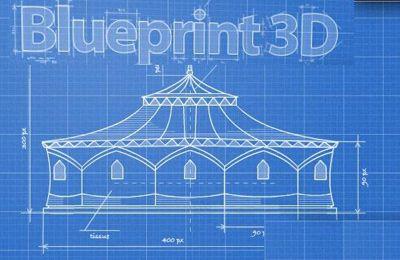 logo Blaupause 3D