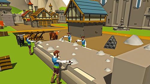Juegos de arcade Security wall construction game para teléfono inteligente