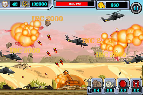 Heli invasion 2: Stop helicopter with rocket für Android