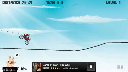 Hill climb bike race screenshots