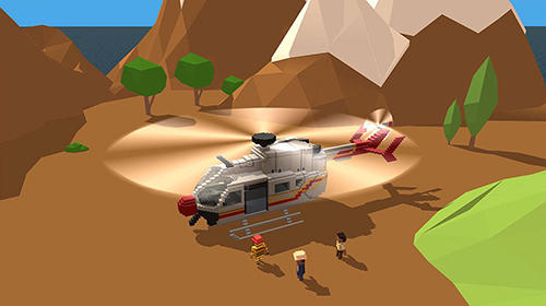 Blocky helicopter city heroes für Android