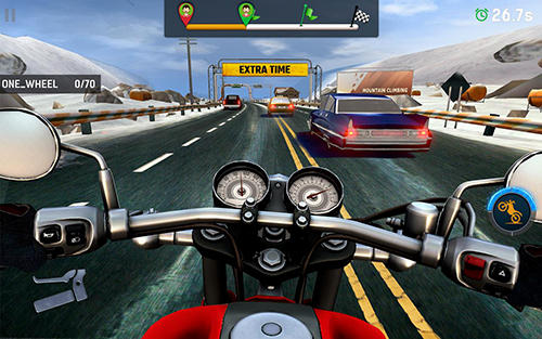 Bike rider mobile: Moto race and highway traffic Screenshot