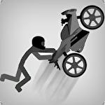 Stickman racer jump Symbol